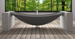 Freestanding Bath Grey Hammock Bathtub Design