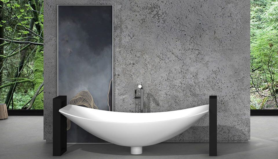 Freestanding Bathtub: Luxurious Oasis Hammock Bath with Steel frame (OASIS)