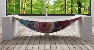 Oasis Flower Hammock Tub Design, Luxury Free standing bathtubs.